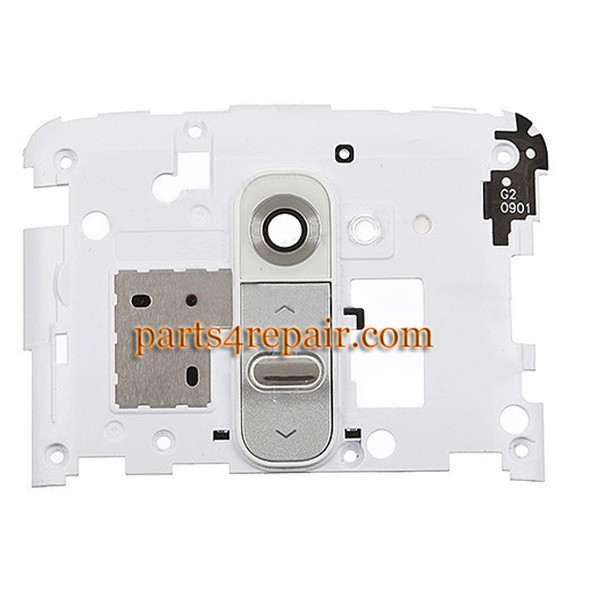 Camera Cover for LG G2 D802 D800 D803 -White from www.parts4repair.com
