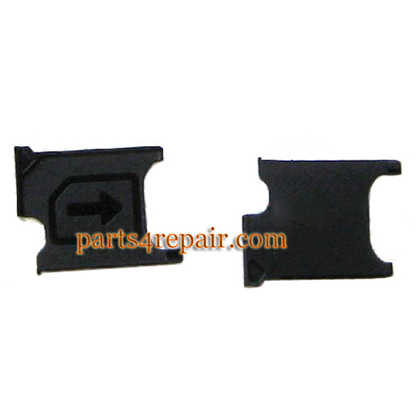 SIM Tray for Sony Xperia T2 Ultra xm50h -Black from www.parts4repair.com