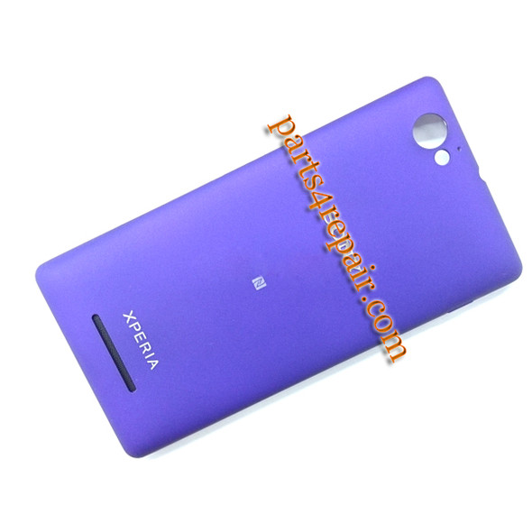Back Cover with NFC & Side Keys for Sony Xperia M C1905 -Purple from www.parts4repair.com