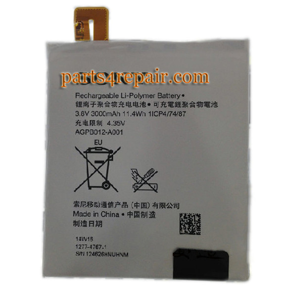 We can offer 3000mAh Built-in Battery for Sony Xperia T2 Ultra xm50h