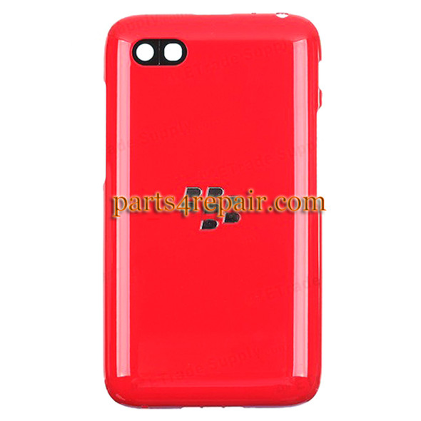 Back Cover for BlackBerry Q5 -Red from www.parts4repair.com