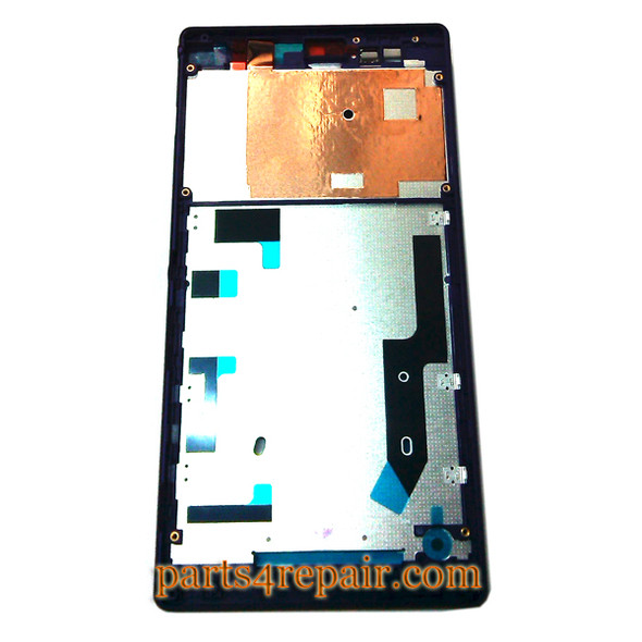 Front Housing Cover for Sony Xperia T2 Ultra -Purple