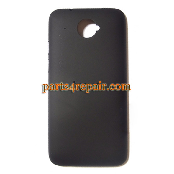Back Cover for HTC Desire 601 Zara -Black from www.parts4repair.com
