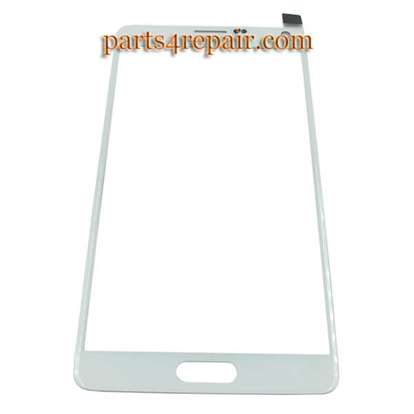 Front Glass for Samsung Galaxy Note 4 -White