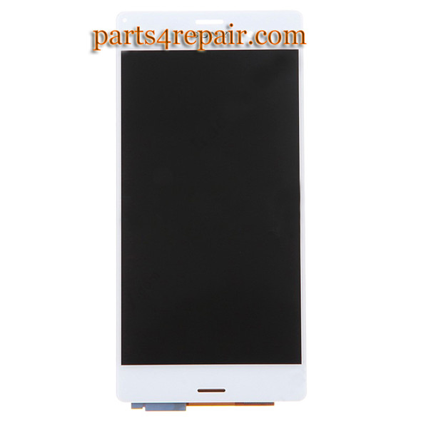 Complete Screen Assembly for Sony Xperia Z3 -White