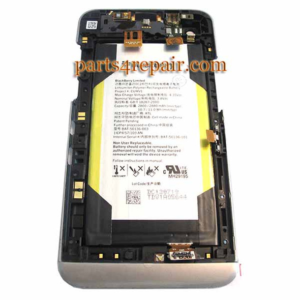 Middle Cover & Battery for BlackBerry Z30