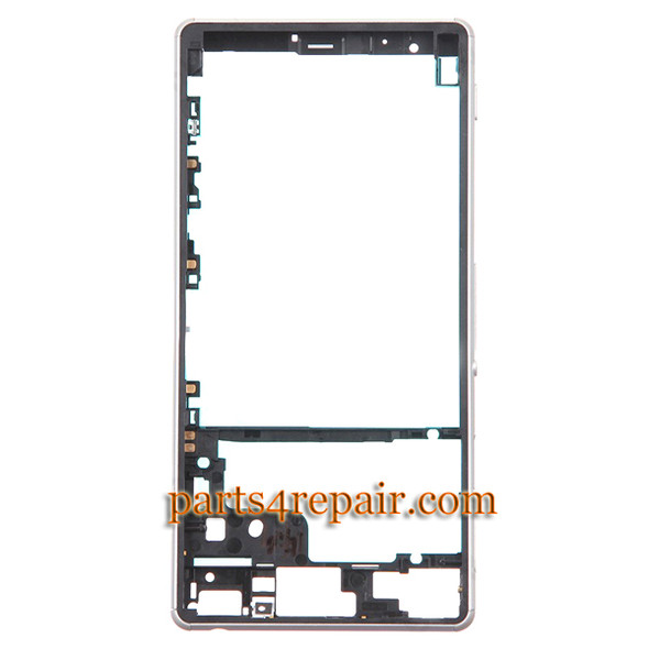 Front Housing Cover with Side Keys for Sony Xperia Z3 -white