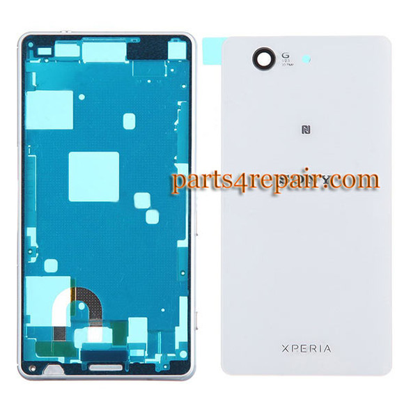 Full Housing Cover for Sony Xperia Z3 Compact mini -White from www.parts4repair.com