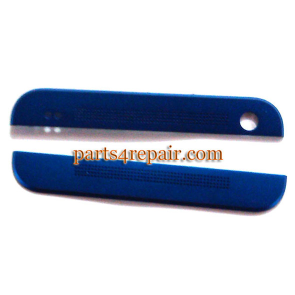 Top Cover & Bottom Cover for HTC One M7 -Blue