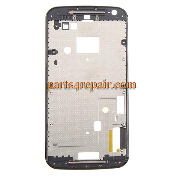 Front Housing Cover for Motorola Moto G2 -Black from www.parts4repair.com