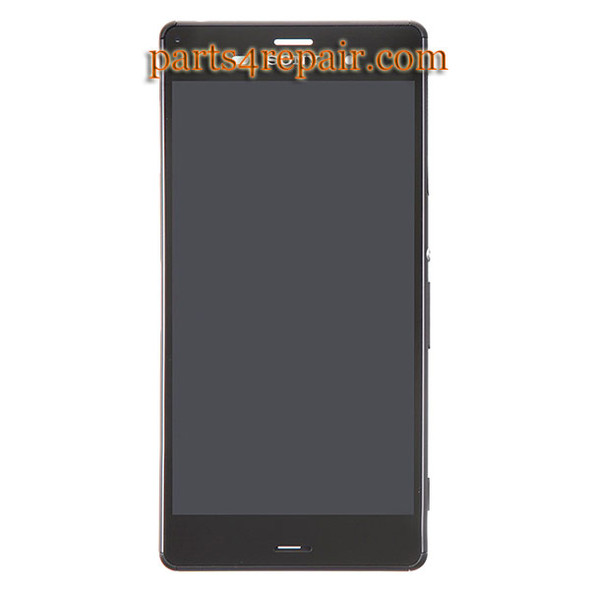 Complete Screen Assembly with Bezel for Sony Xperia Z3 -Black (Refurbished)