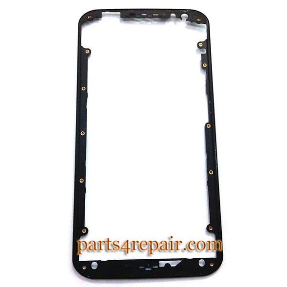 Front Bezel for Motorola Moto X 2014 (2nd Gen) -Black from www.parts4repair.com