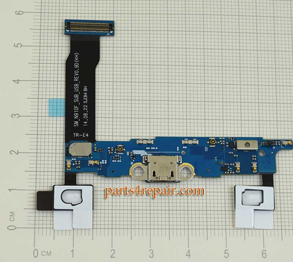 Dock Charging Flex Cable for Samsung Galaxy Note 4 N910F from www.parts4repair.com