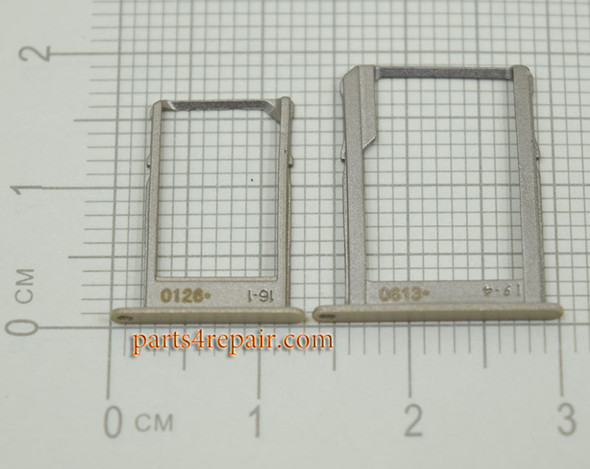 SIM Tray and MicroSD Tray for Samsung Galaxy A5 A7 -Gold