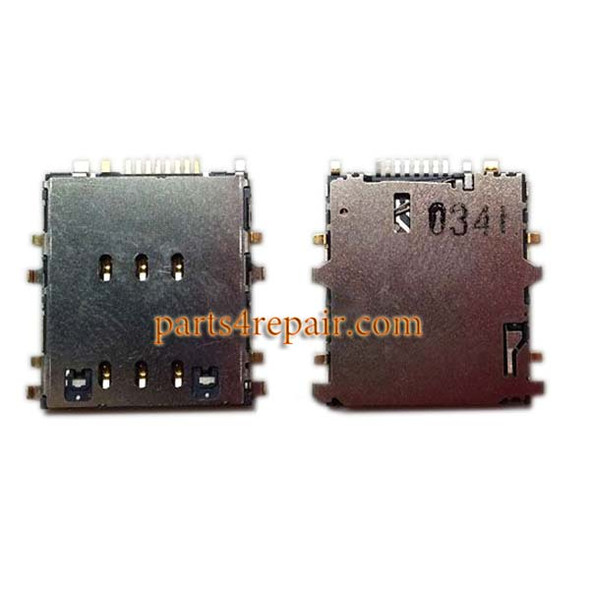 SIM Contact Connector for Samsung Galaxy Tab 4 8.0 T335 from www.parts4repair.com