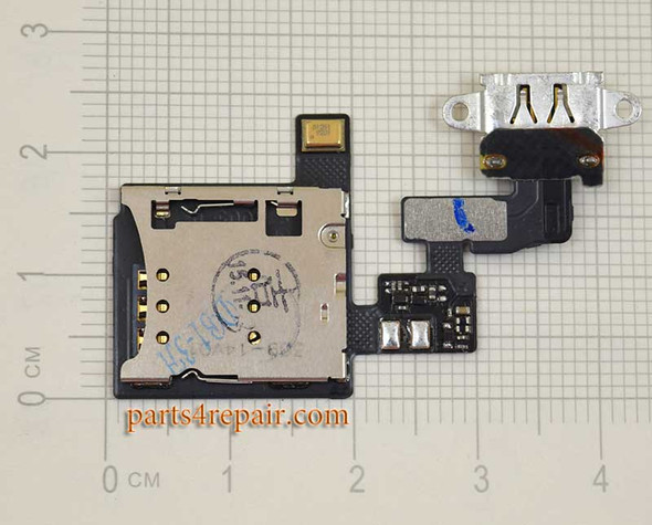 SIM Connector Flex Cable for Oppo R5 from www.parts4repair.com