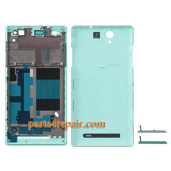 Full Housing Cover for Sony Xperia C3 S55 -Green