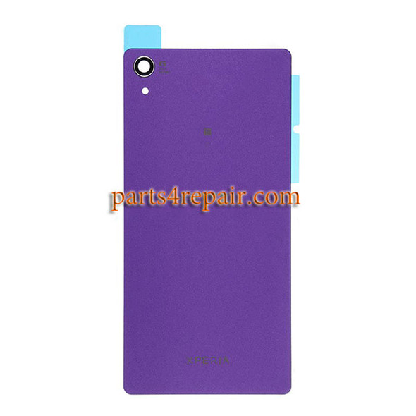 Back Cover for Sony Xperia Z2 -Purple from www.parts4repair.com