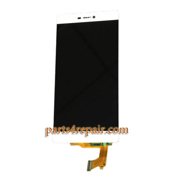Huawei P8 LCD Screen Digitizer Assembly White | Parts4Repair.com