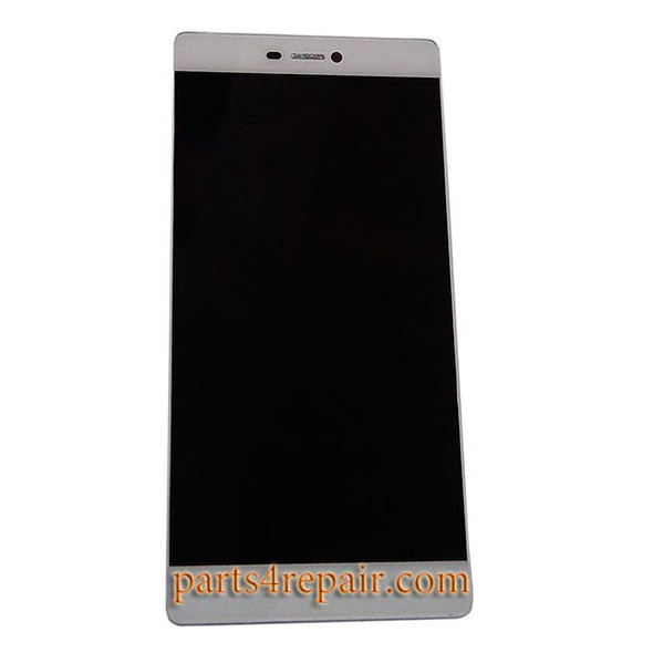 Huawei P8 LCD Screen Digitizer Assembly with Frame Gold | Parts4Repair.com