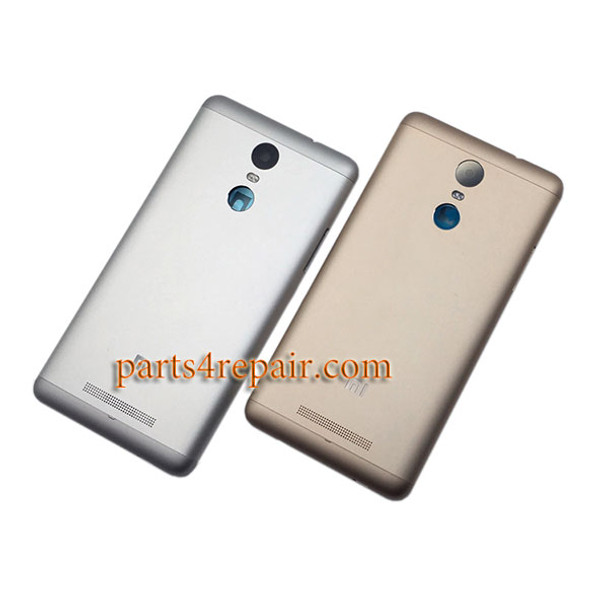 Back Cover with Side Keys for Xiaomi Redmi Note 3 (Mediatek version) -Gold