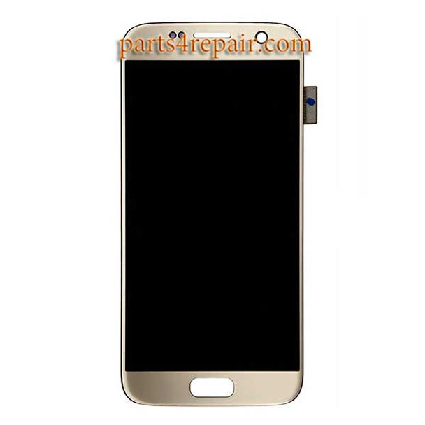 Complete Screen Assembly for Samsung Galaxy S7 All Versions -Gold