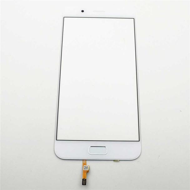 Front Glass with Fingerprint Flex for Asus Zenfone 4 ZE554KL White   Parts4Repair.com
