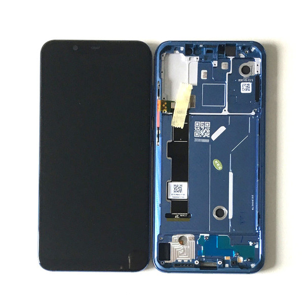 Xiaomi Mi 8 LCD Screen Digitizer Assembly with Frame Blue | Parts4Repair.com