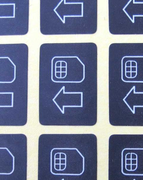 HTC Cellphone SIM Card Sticker (40pcs)