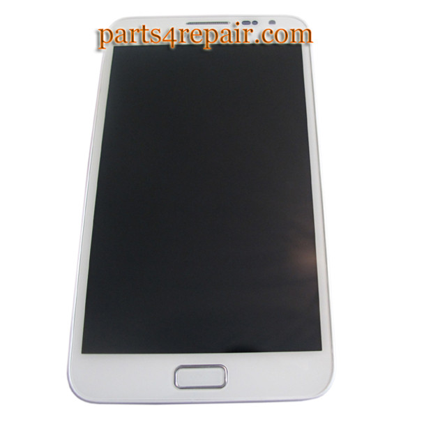 Complete screen Assembly with Bezel for Samsung Galaxy Note N7000 -White