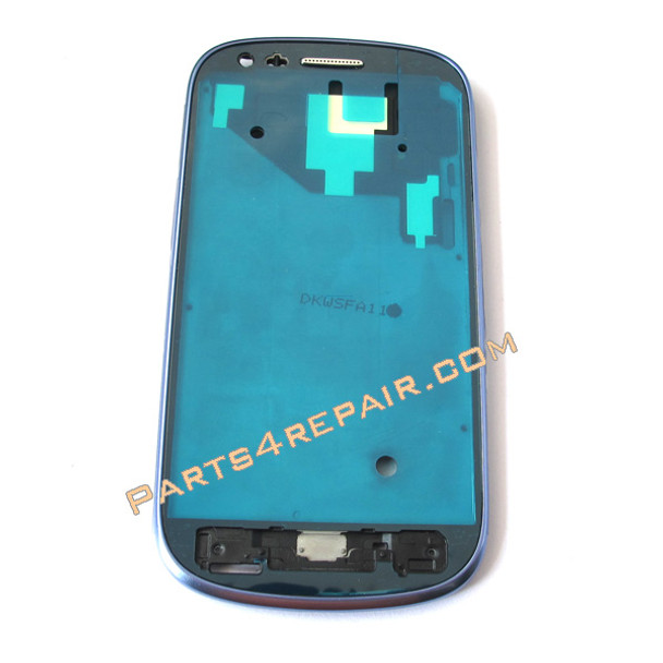 Samsung I8190 Galaxy s III mini Front Bezel for LCD Screen -Blue