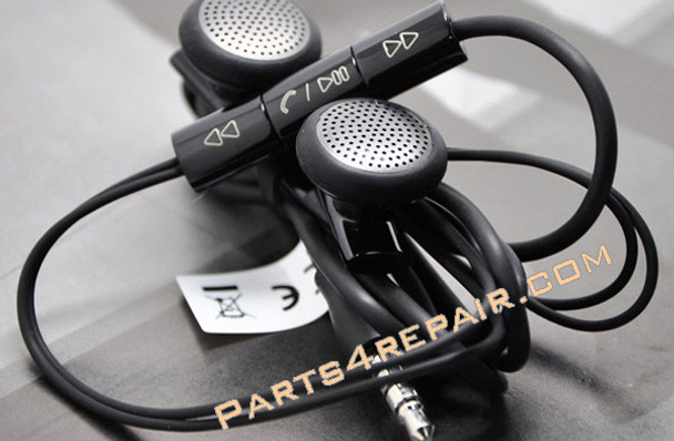 HTC Desire HD Original Headset Earphone -Black from www.parts4repair.com