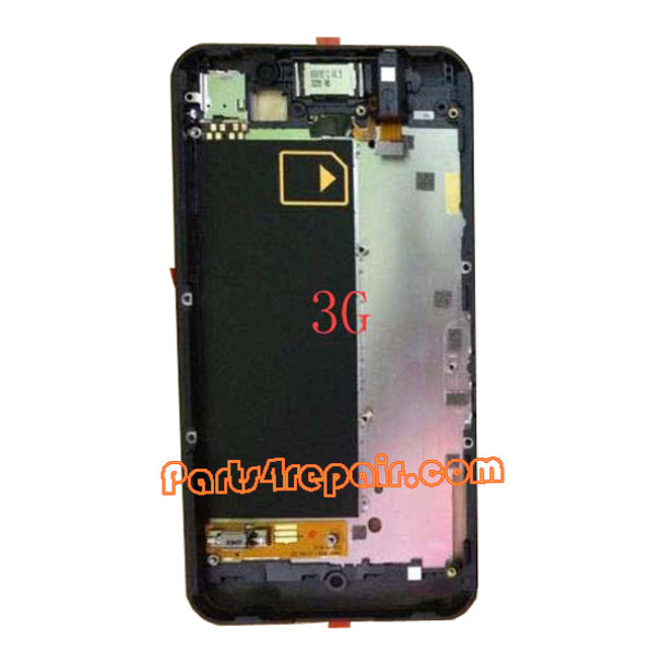 Middle Plate for BlackBerry Z10 3G -Black