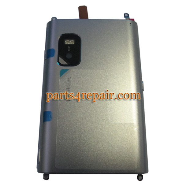 Nokia E7 Back Cover Silver from www.parts4repair.com