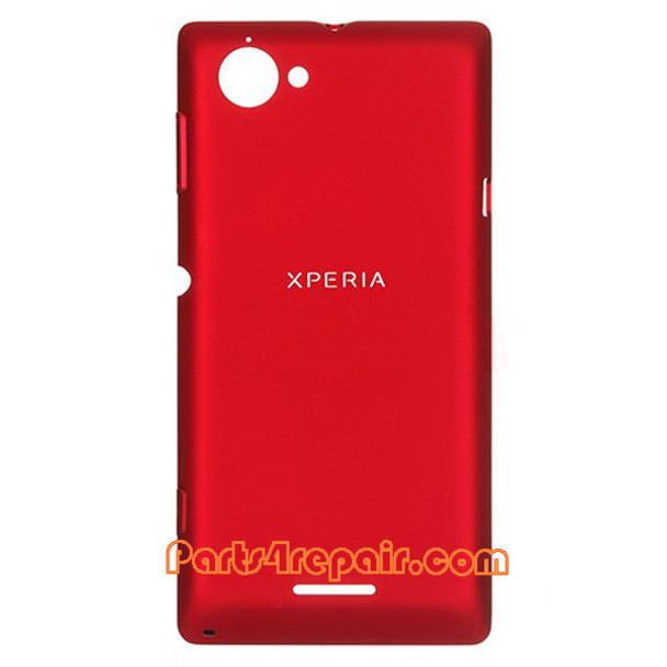 Back Cover for Sony Xperia L S36H -Red from www.parts4repair.com