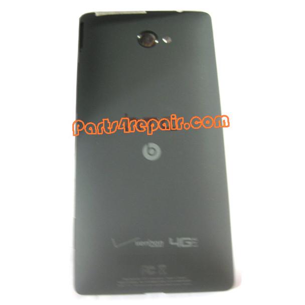 Back Cover for HTC 8X (Verizon Version)-Black