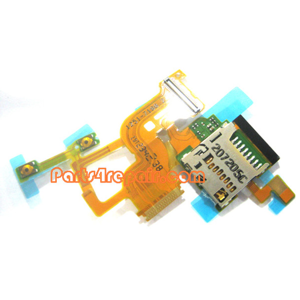 Memory Contact Holder Flex Cable for Sony Xperia ion LTE LT28 from www.parts4repair.com