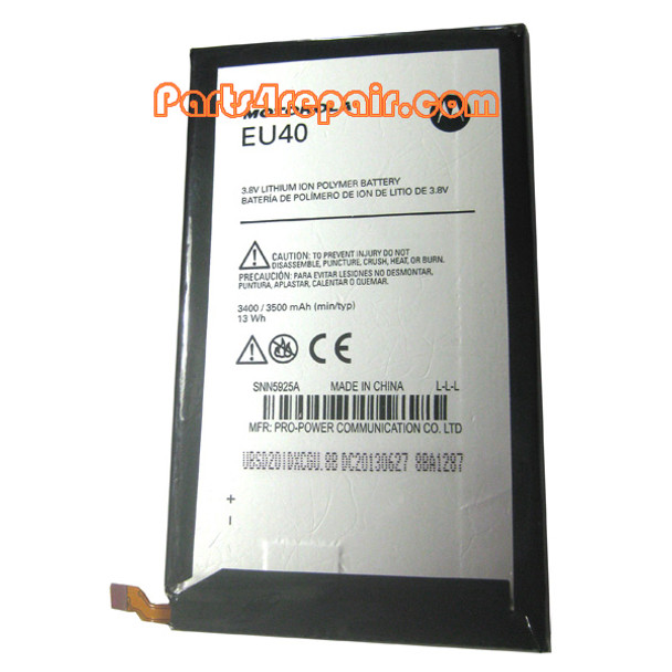 EU40 Battery for Motorola Droid Ultra XT1080 from www.parts4repair.com