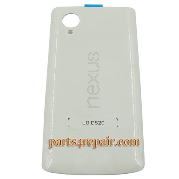 Back Cover for LG Nexus 5 D820 -Black from www.parts4repair.com