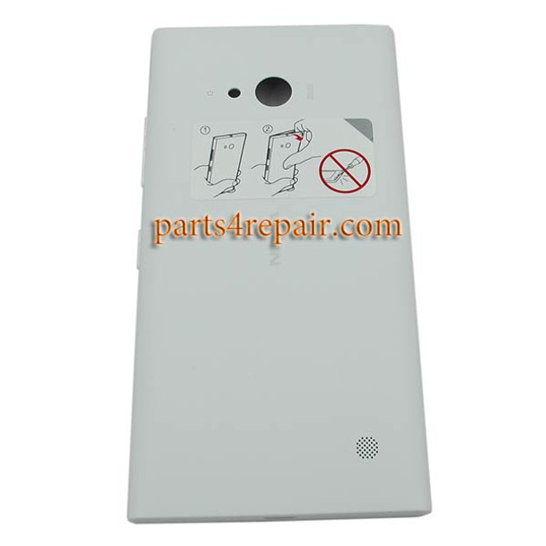 Back Cover with Wireless Charging Coil for Nokia Lumia 730 -White
