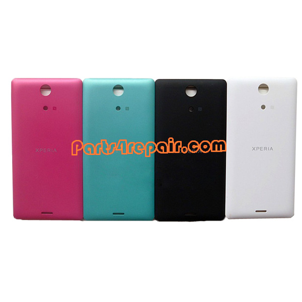 newest 91e00 0d3ee Back Cover for Sony Xperia ZR M36H -Red