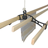 .Victorian Style 4-Slat Original Cast-Iron Ceiling-Mounted Airer