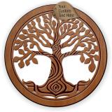 Tree of Life Hardwood Ornament w/ Metallic Leaf