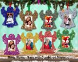 Photo Frame Glitter Angel Ornament
