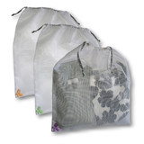 Jungle Butterfly Wash Bags JUMBO ~ Set of 3