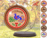 Hex Wood! Welcome Bird of Paradise (03in) Personalized PA Dutch Hex Sign Ornament