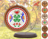 Hex Wood! Luck of the Irish (03in) Personalized PA Dutch Hex Sign Ornament