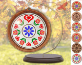 Hex Wood! Trinity Tulips (03in) Personalized PA Dutch Hex Sign Ornament