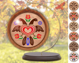 Hex Wood! Eagle (03in) Personalized PA Dutch Hex Sign Ornament
