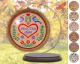 Hex Wood! Bless Child (03in) Personalized PA Dutch Hex Sign Ornament